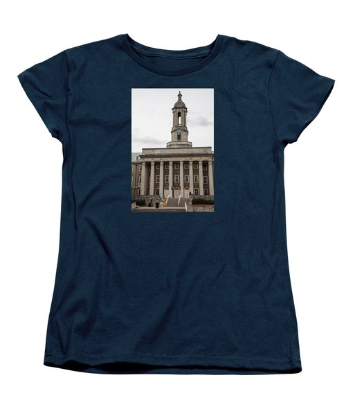 Old Main Penn State From Front  Women's T-Shirt (Standard Cut) by John McGraw