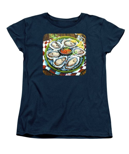 Oysters On The Half Shell Women's T-Shirt (Standard Cut) by Dianne Parks