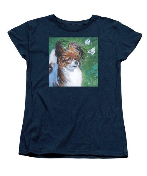 Papillon And Butterflies Women's T-Shirt (Standard Cut) by Lee Ann Shepard