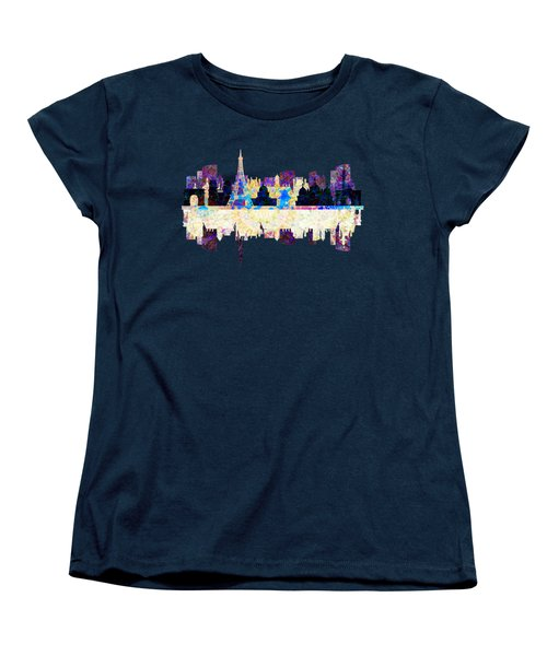 Paris France Fantasy Skyline Women's T-Shirt (Standard Cut) by John Groves