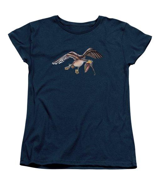 Pelican In Frantic Flight Women's T-Shirt (Standard Cut) by Jennifer Rogers