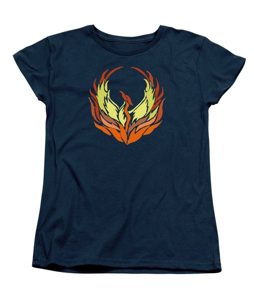 Phoenix Bird Women's T-Shirt (Standard Cut) by Priscilla Wolfe