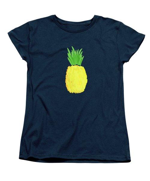 Pineapple Women's T-Shirt (Standard Cut) by Priscilla Wolfe
