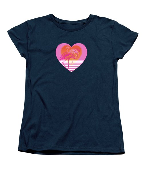 Pink Flamingos Women's T-Shirt (Standard Cut) by Eclectic at HeART