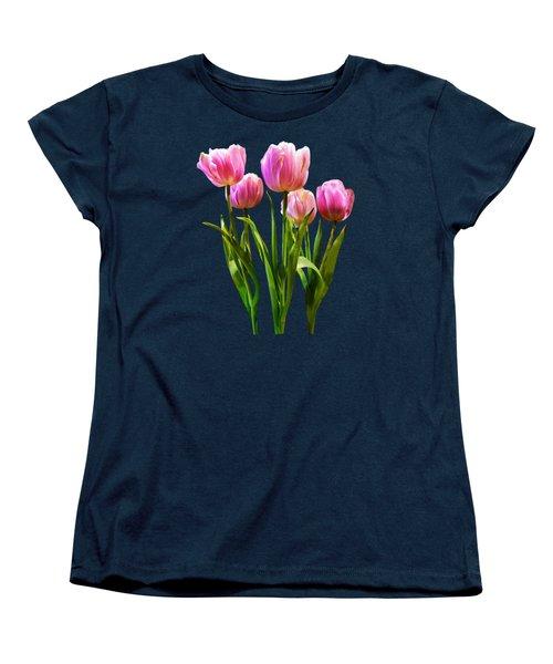 Pink Pastel Tulips Women's T-Shirt (Standard Cut) by Susan Savad