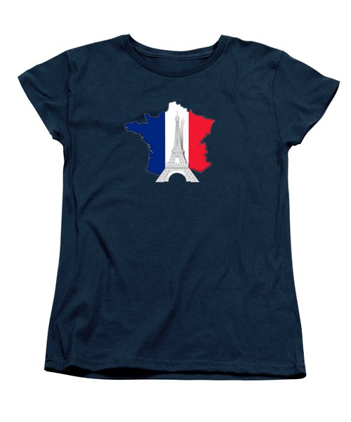Pray For Paris Women's T-Shirt (Standard Cut) by Bedros Awak