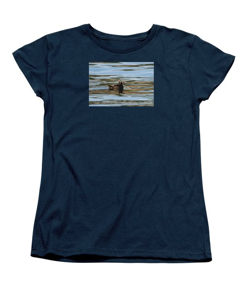 Puffin Reflected Women's T-Shirt (Standard Cut) by Mike Dawson