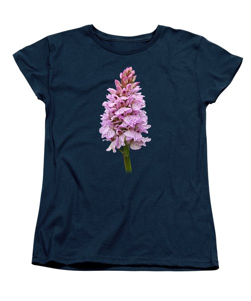 Radiant Wild Pink Spotted Orchid Women's T-Shirt (Standard Cut) by Gill Billington