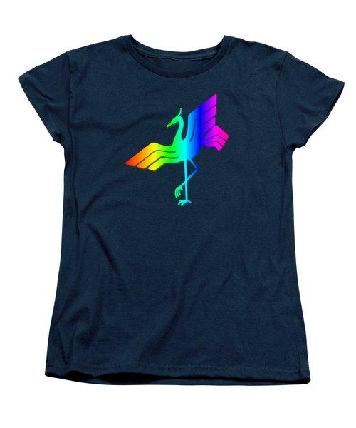 Rainbow Stork Women's T-Shirt (Standard Cut) by Frederick Holiday