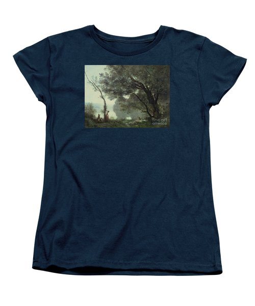 Recollections Of Mortefontaine Women's T-Shirt (Standard Cut) by Jean Baptiste Corot