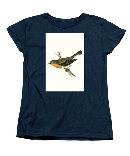 Red Breasted Flycatcher Women's T-Shirt (Standard Cut) by English School
