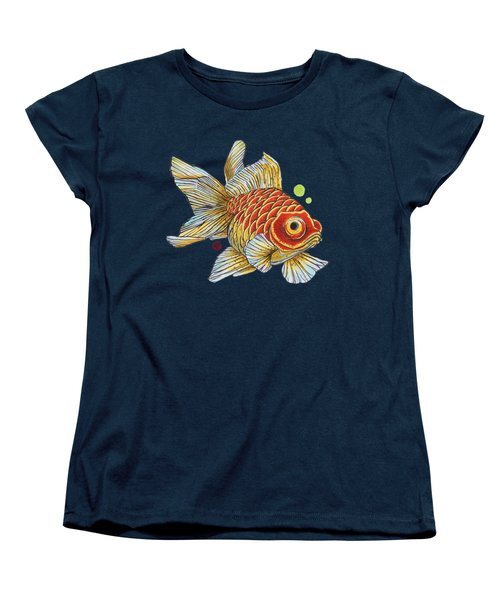 Red Telescope Goldfish Women's T-Shirt (Standard Cut) by Shih Chang Yang