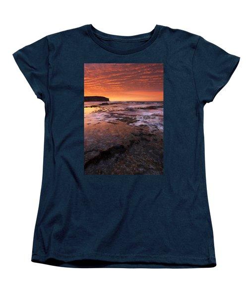 Red Tides Women's T-Shirt (Standard Cut) by Mike  Dawson
