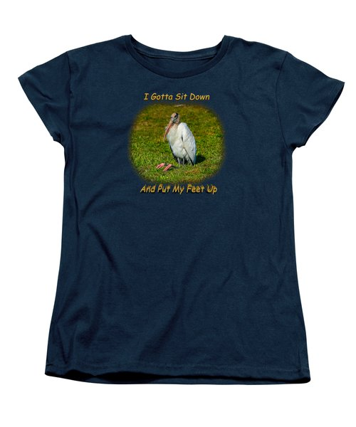 Resting Woodstork Women's T-Shirt (Standard Cut) by John M Bailey