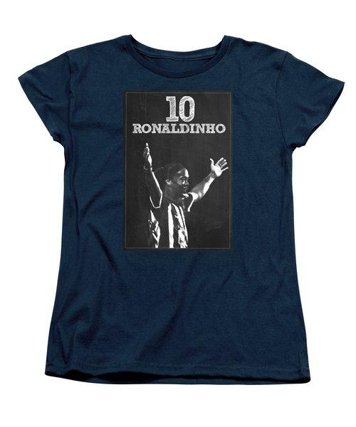 Ronaldinho Women's T-Shirt (Standard Cut) by Semih Yurdabak