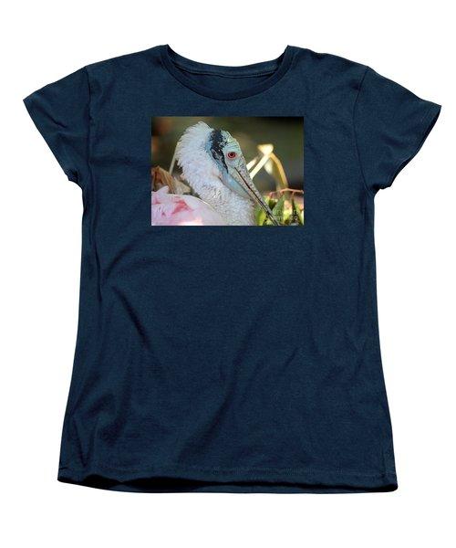 Roseate Spoonbill Profile Women's T-Shirt (Standard Cut) by Carol Groenen