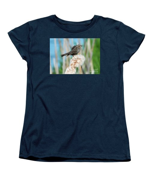 Ruffled Feathers Women's T-Shirt (Standard Cut) by Mike Dawson