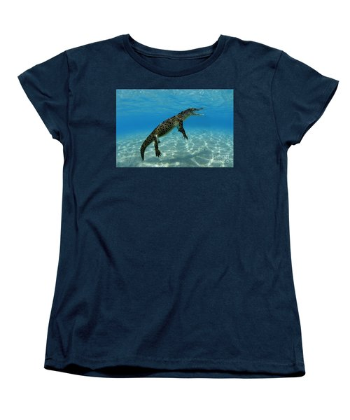 Saltwater Crocodile Women's T-Shirt (Standard Cut) by Franco Banfi and Photo Researchers