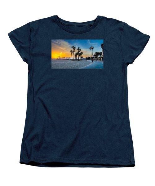 Santa Monica Sunset Women's T-Shirt (Standard Cut) by Az Jackson
