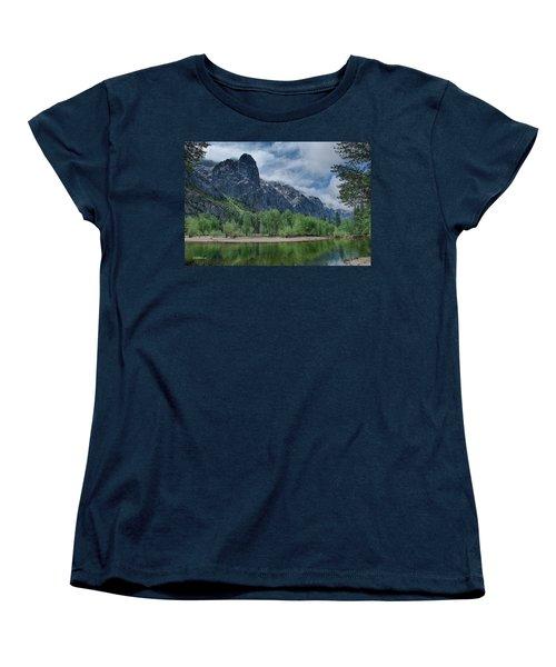 Sentinel Rock After The Storm Women's T-Shirt (Standard Cut) by Bill Roberts