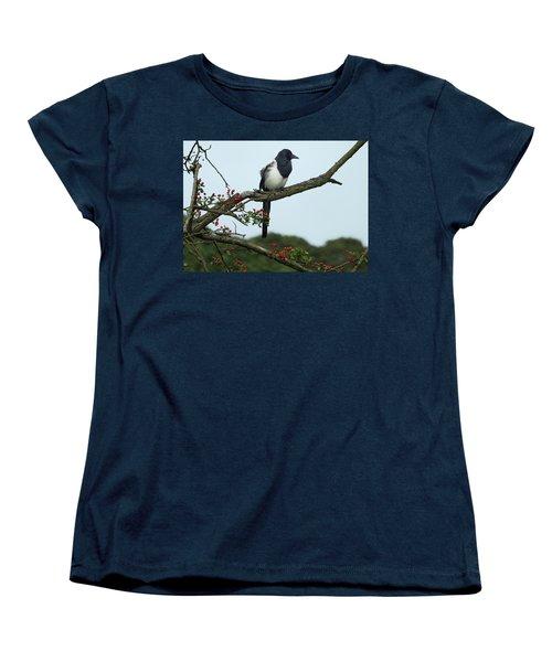 September Magpie Women's T-Shirt (Standard Cut) by Philip Openshaw