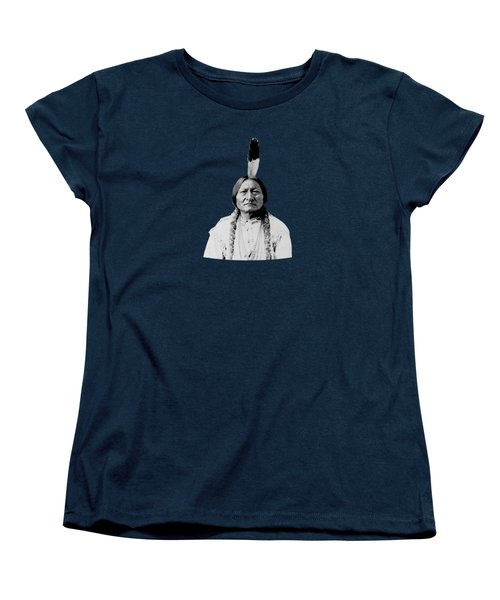 Sioux Chief Sitting Bull Women's T-Shirt (Standard Cut) by War Is Hell Store