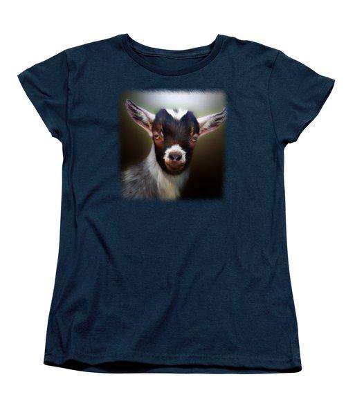 Skippy - Goat Portrait Women's T-Shirt (Standard Cut) by Linda Koelbel