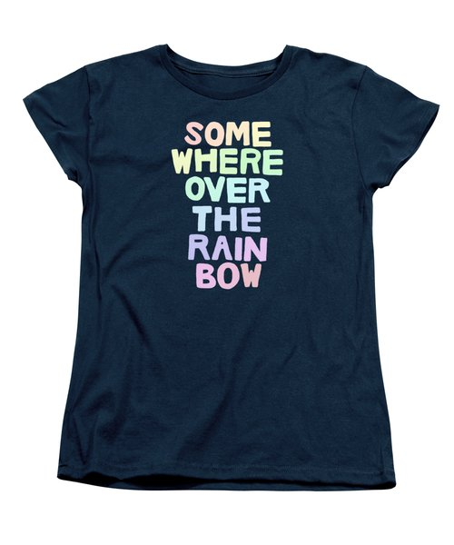Somewhere Over The Rainbow Women's T-Shirt (Standard Cut) by Priscilla Wolfe