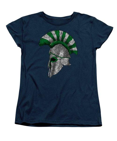 Spartan Helmet Women's T-Shirt (Standard Cut) by Dusty Conley