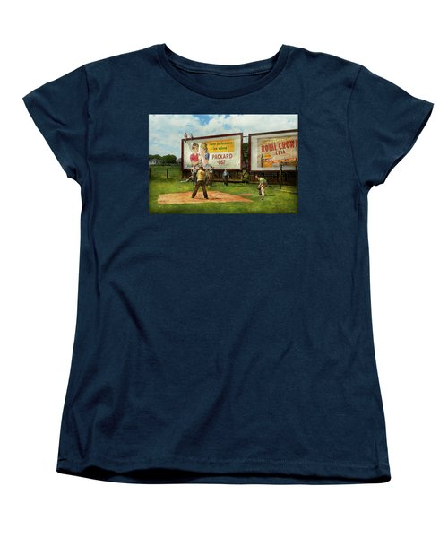Sport - Baseball - America's Past Time 1943 Women's T-Shirt (Standard Cut) by Mike Savad