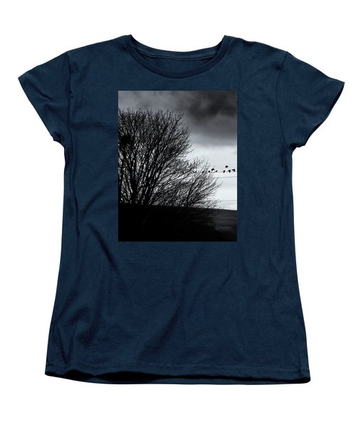 Starlings Roost Women's T-Shirt (Standard Cut) by Philip Openshaw