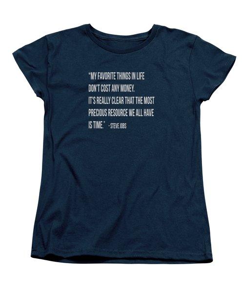 Steve Jobs Time Quote Tee Women's T-Shirt (Standard Cut) by Edward Fielding