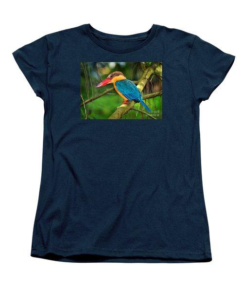 Stork-billed Kingfisher Women's T-Shirt (Standard Cut) by Louise Heusinkveld