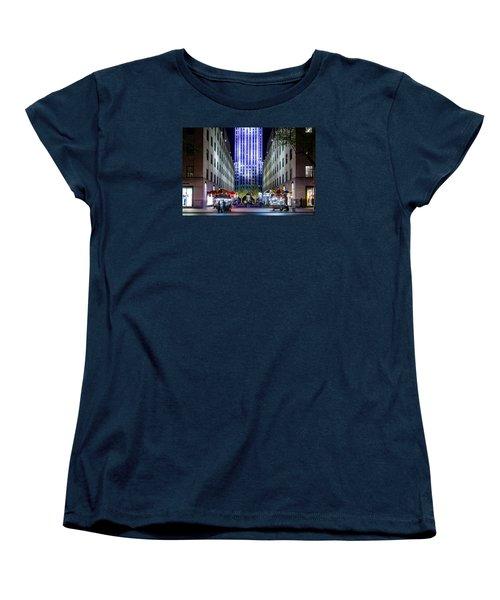 Women's T-Shirt (Standard Cut) featuring the photograph Rockefeller Center by M G Whittingham