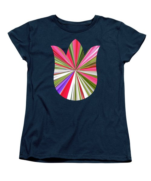 Striped Tulip Women's T-Shirt (Standard Cut) by Marian Bell
