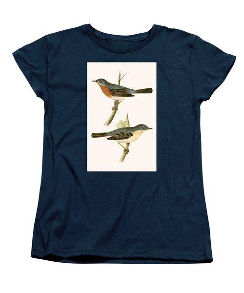 Sub Alpine Warbler Women's T-Shirt (Standard Cut) by English School