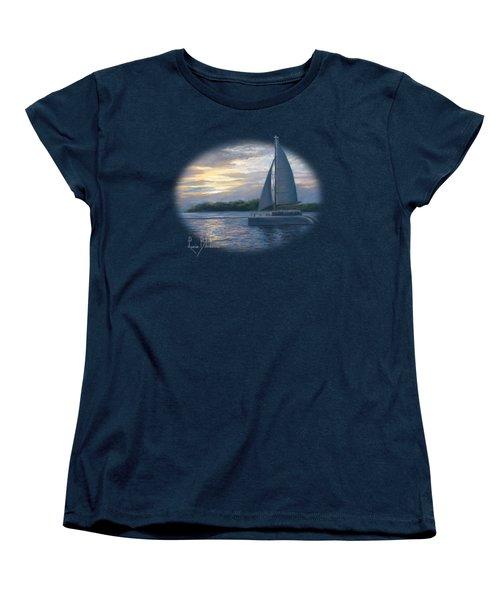 Sunset In Key West Women's T-Shirt (Standard Cut) by Lucie Bilodeau