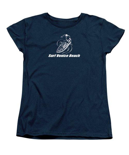 Surf Venice Beach Women's T-Shirt (Standard Cut) by Brian Edward