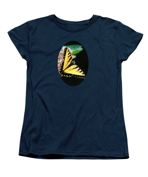 Swallowtail Butterfly And Milkweed Flowers Women's T-Shirt (Standard Cut) by Christina Rollo