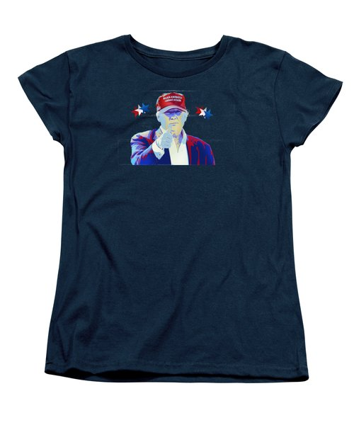 T R U M P Donald Trump Women's T-Shirt (Standard Cut) by Mr Freedom