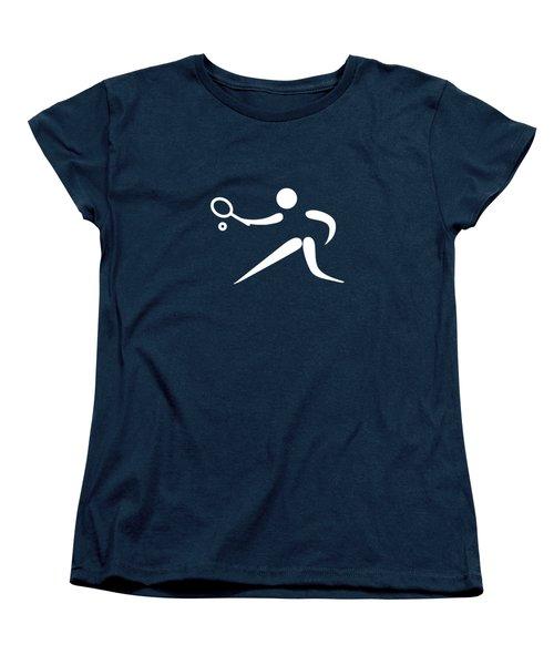 Tennis Player Women's T-Shirt (Standard Cut) by Frederick Holiday