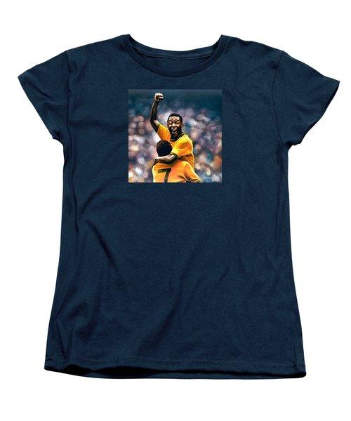 The Black Pearl Pele  Women's T-Shirt (Standard Cut) by Paul Meijering