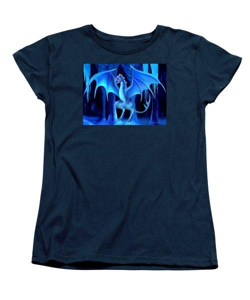 The Blue Ice Dragon Women's T-Shirt (Standard Cut) by Glenn Holbrook