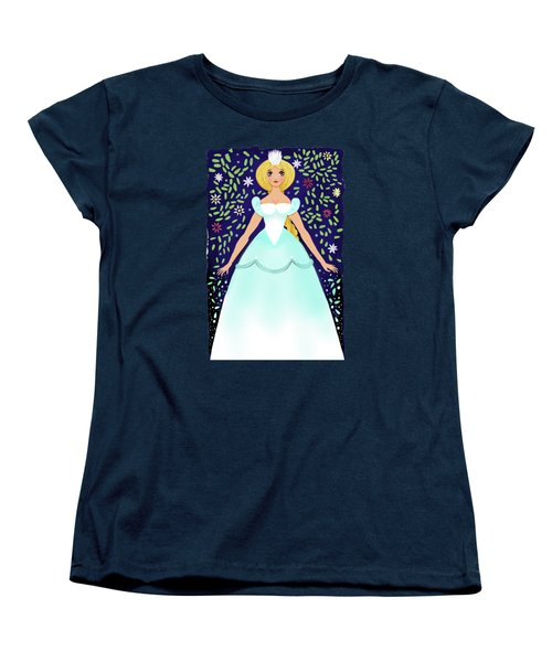 The Winter Fairy Brings The First Frost  Women's T-Shirt (Standard Cut) by Little Bunny Sunshine