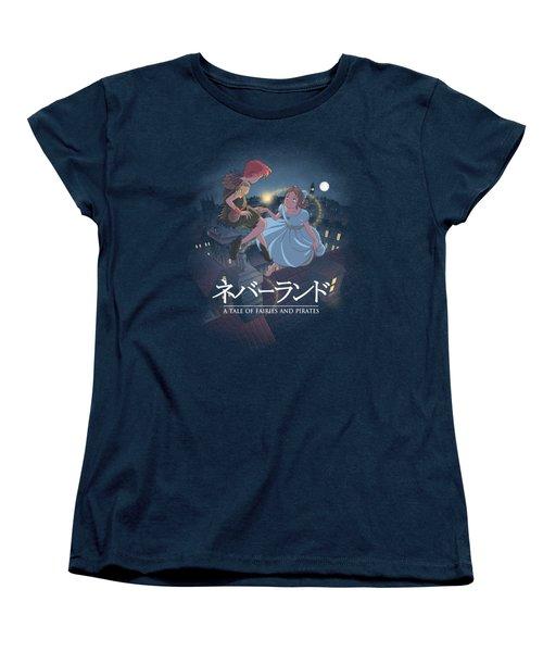 To Neverland Women's T-Shirt (Standard Cut) by Saqman