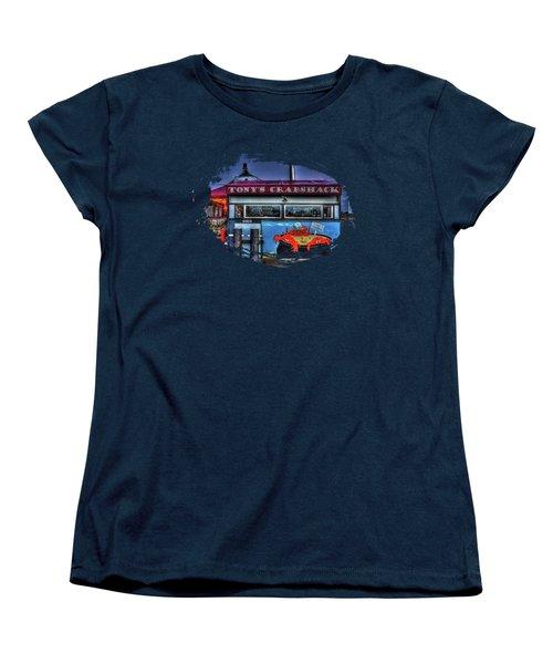 Tonys Crabshack Women's T-Shirt (Standard Cut) by Thom Zehrfeld