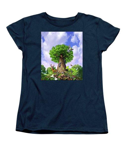 Tree Of Life Women's T-Shirt (Standard Cut) by Jerry LoFaro
