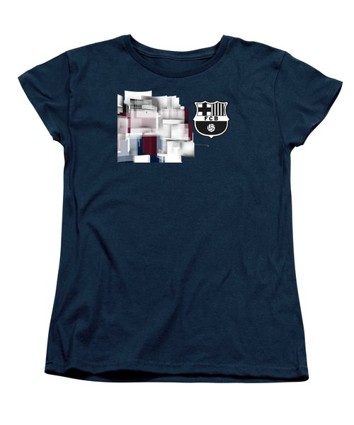 Tribute To Fc Barcelona 7 Women's T-Shirt (Standard Cut) by Alberto RuiZ