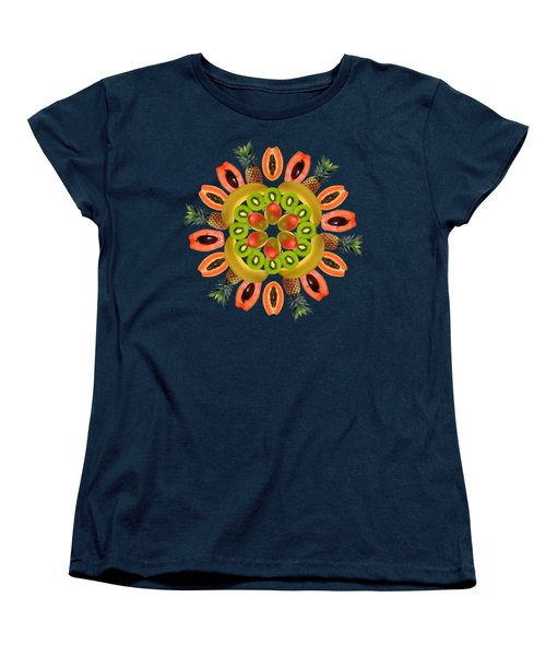 Tropical Fruits Women's T-Shirt (Standard Cut) by Edelberto Cabrera