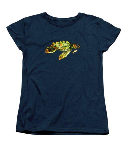 Turtle Talk Women's T-Shirt (Standard Cut) by Candace Ho